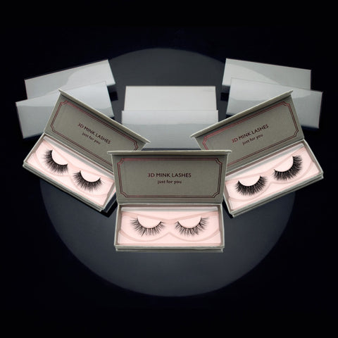 Lashes 3D Mink Lashes Medium Volume Mink Eyelashes Natural Black False Eyelashes #04 05 06