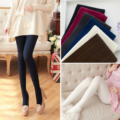 Trend Knitting High elastic tights Women's velet pantyhose fashion casual