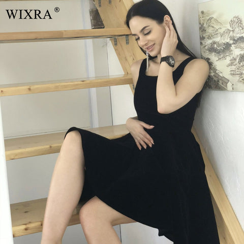 Elegant A-Line Ball Gown Women Sexy Spring Pleated Knee-Length Dresses