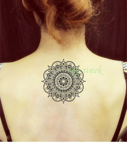 Waterproof Temporary Tattoo Sticker flower lotus fake tattoos