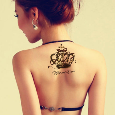 Waterproof Temporary Tattoo Sticker on body big crown tatto stickers flash tatoo fake