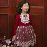 Autumn fall winter toddler kids girl long sleeve lace - birthday party kid dresses