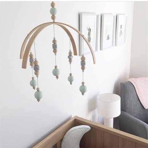 Wooden Wind Chimes Bell Peal Baby Girl Mobile Decor Hanging