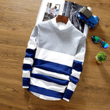 Stripe sweater men sweater knit