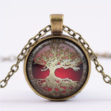 Glass Picture Pendant Tree Of Life Necklace Glass Pendant