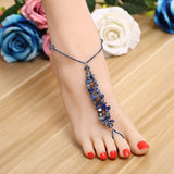 New Ankle Bracelet Pulseras Tobilleras Colorful Stone For Women Summer Fine Jewelry Barefoot Sandals