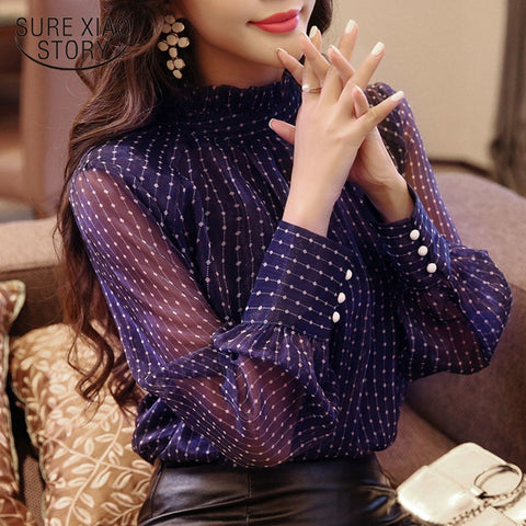 Spring blouse women long sleeved shirt female fashion loose blouse