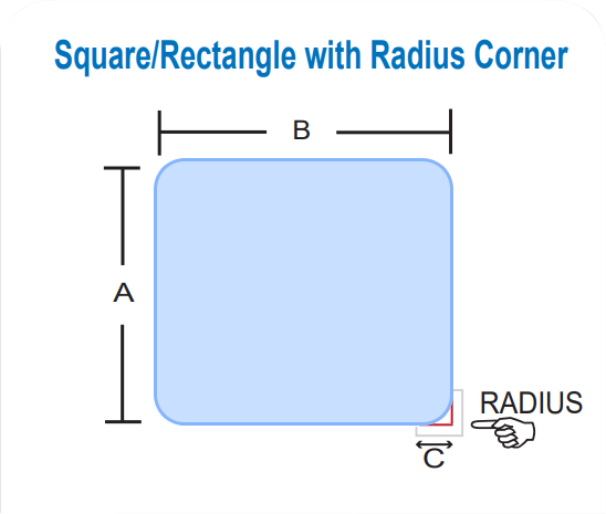Square/Rectangle with Radius Corner