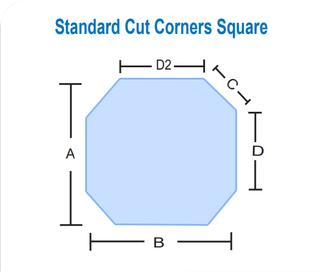 Standard Cut Corners Square