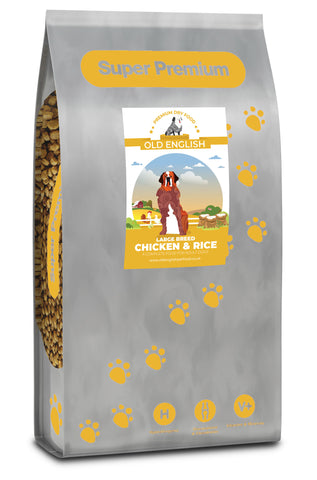 Super Premium Large Breed Dog Food:  Chicken & Rice