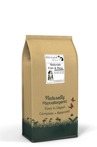 Natural Dog Food White Fish & Rice