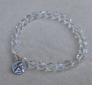 Crystal Bracelet with Guardian Angel