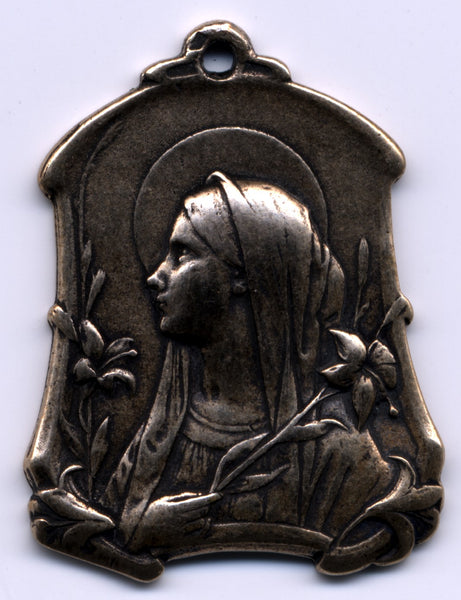 Mary of the Lillies, Sterling or Bronze