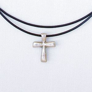 Bevel Cross, Bronze or Silver