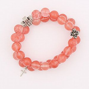 Cherry Quartz Double Bracelet