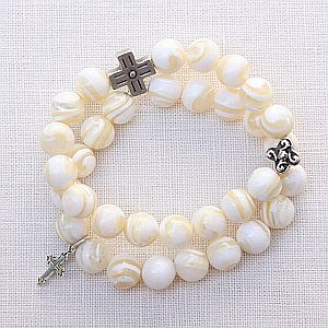 Mother of Pearl Double Bracelet