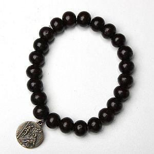 Saint Peregrine (Patron Saint of Cancer victims) sandalwood bracelet