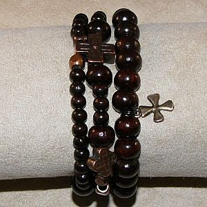 Sandalwood Rosary Bracelet with another accent bracelet