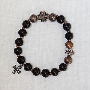Sandalwood Rosary Bracelet, single decade