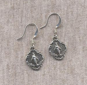 Sterling silver Miraculous earrings