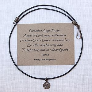 Guardian Angel Choker, Pink, Brown