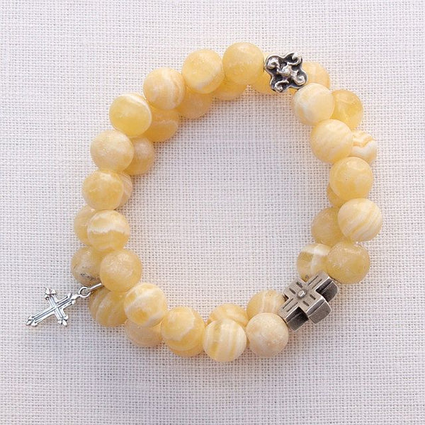 Yellow Jasper Double Bracelet