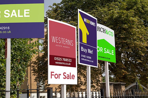 C J Display estate agents sign board services