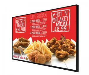 digital menu board | fast food menu board