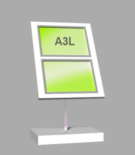 Freestanding Light Panel with 2 x A3 Landscape
