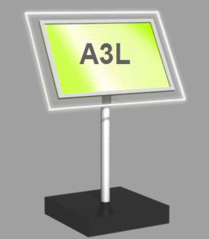 A3 Landscape Freestanding Light Panel