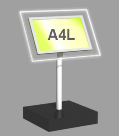 A4 Landscape Freestanding Light Panel