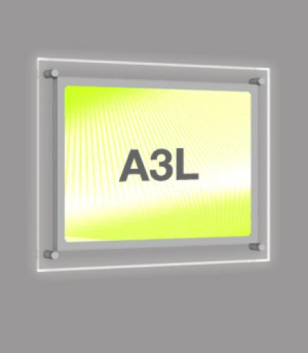 A3 Landscape Wall Mounted Light Panel