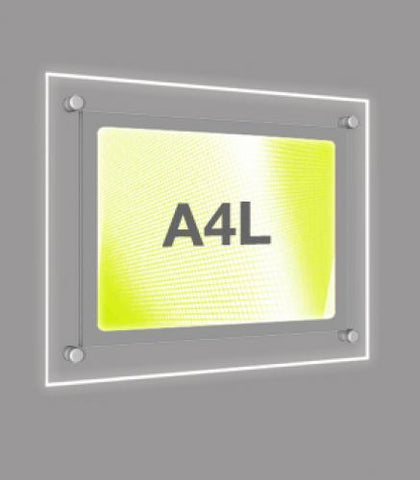 A4 Landscape Wall Mounted Light Panel