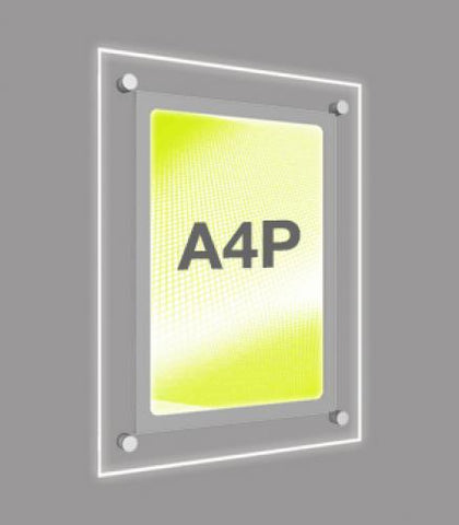 A4 Portrait Wall Mounted Light Panel