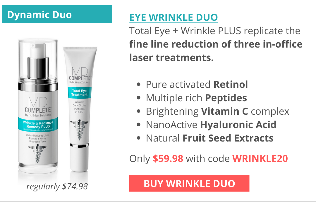 Your dynamic duo for fine line and wrinkle reduction, comparable to laser treatments