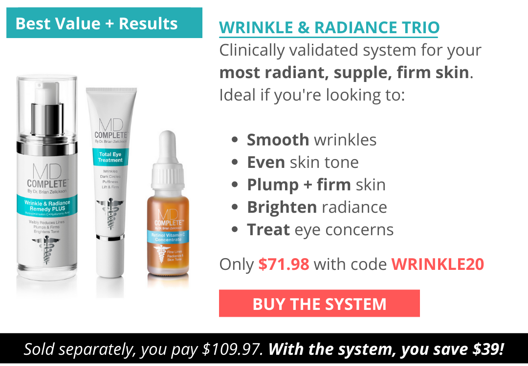 For the best wrinkle and radiance results outside of a dermatology office