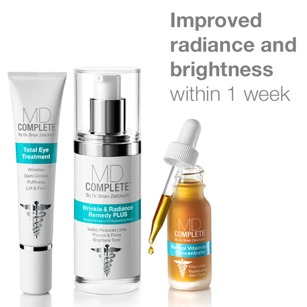 Improved radiance and brightness within 1 week