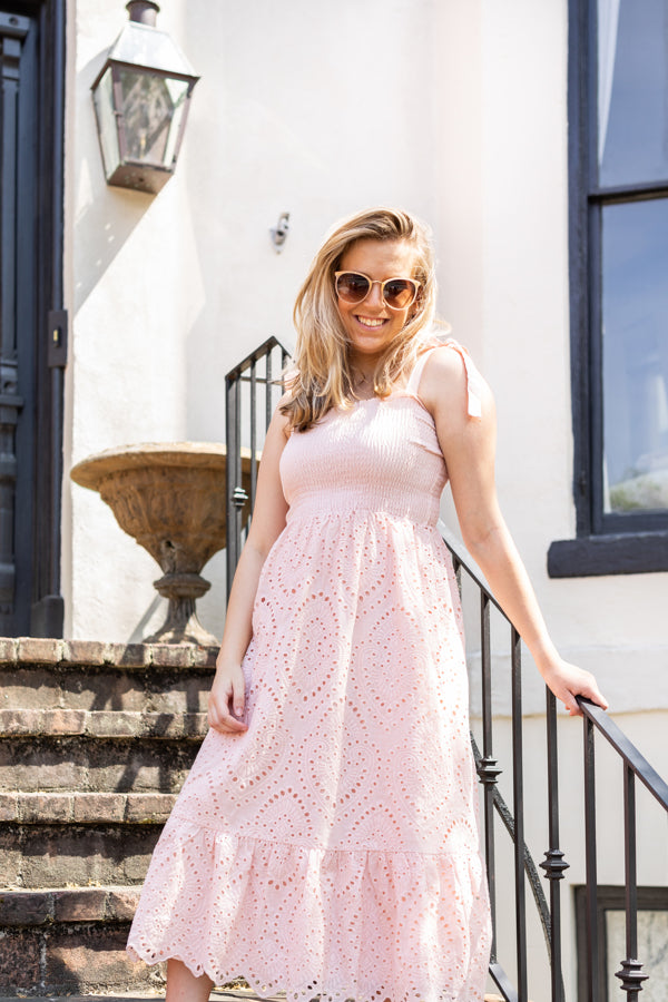 Evelyn Eyelet Dress