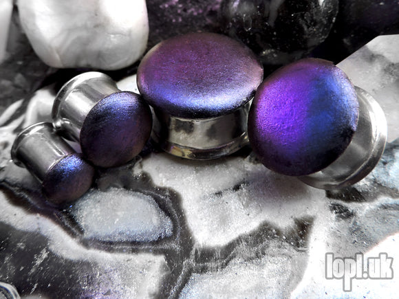 Ear Plugs / Gauges - Beetlebum No. 1 Blue to Purple Colour-Shifting Plugs PREORDER