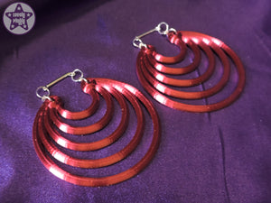 Ear Weights / Hangies - Red Ice Super Hoops 6mm+ / 2g+ PAIR READY NOW