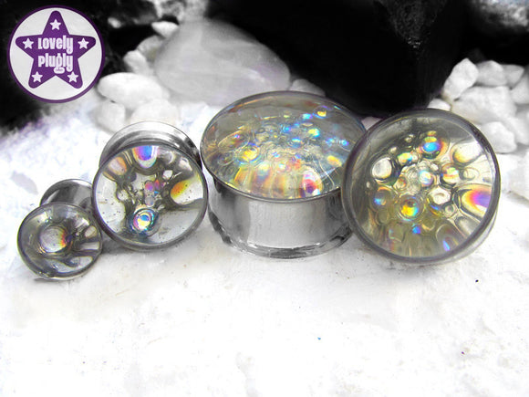 Ear Plugs / Gauges - In the Bath Iridescent Bubble Plugs PREORDER