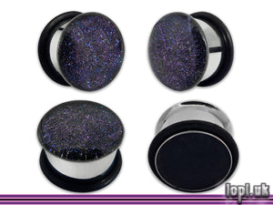 Ear Plugs / Gauges: Interstellar Overdrive Blue Purple Faux Dichroic