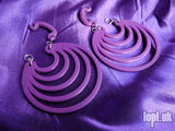 Ear Weights / Hangies - Purple Super Hoops 8mm+ / 0g+ PAIR READY NOW