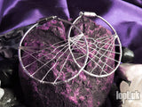 Ear Weights / Hangies - Silver Plated Amplitude Hoops 8mm+ / 0g+ PAIR READY NOW