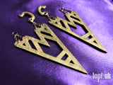 Ear Weights / Hangies - Star Destroyers Antique Brass 8mm+ / 0g+ PAIR READY NOW