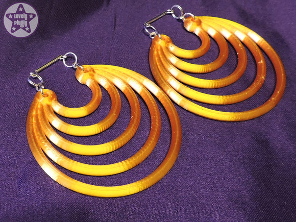 Ear Weights / Hangies - Gold Ice Super Hoops 6mm+ / 2g+ PAIR READY NOW