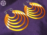 Ear Weights / Hangies: Shiny Yellow Gold Ice Super Hoops PAIR