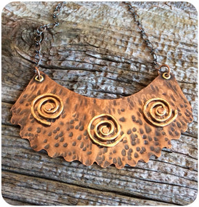 Copper and Brass Band Necklace