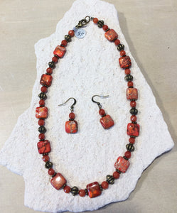 Red Impression Stone Set