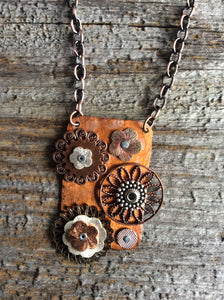 Vintage Wheels in Motion Pendant